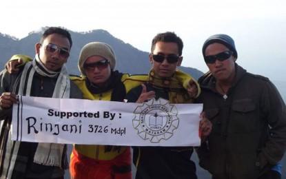 Pendakian bersama Rinjani Mountain 3726 mdpl